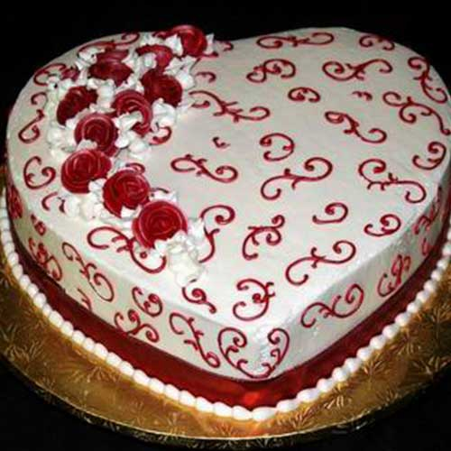 Heart Shaped Cake Design 6
