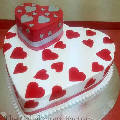 Heart Shaped Cake Design 9