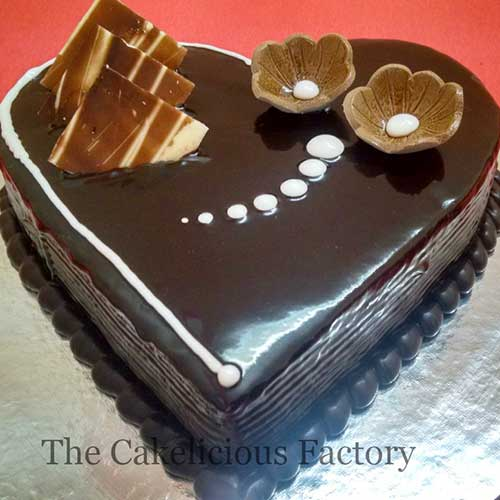 Heart Shaped Cake Design 4