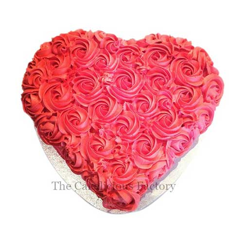 Red Velvet Heart Shaped Cake 17