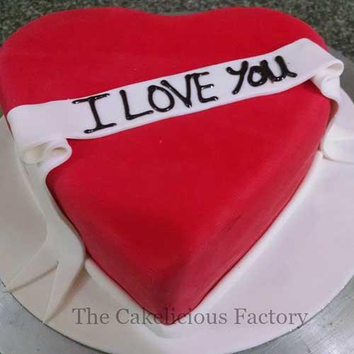 Valentines Theme Fondant Cake 23