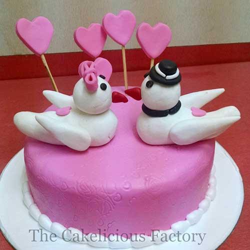 Valentines Theme Fondant Cake Twenty Five