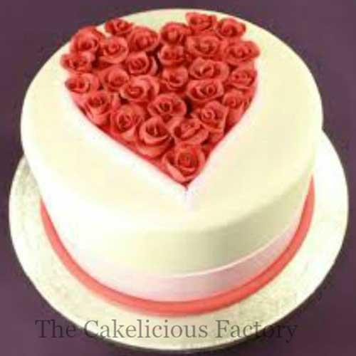 Valentines Theme Fondant Cake Twenty Six