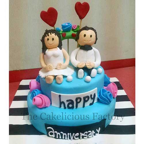 Valentines Theme Fondant Cake Twenty Seven