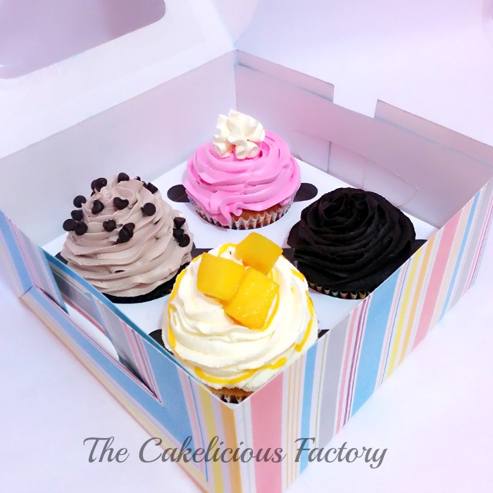 Assorted Box of Four Cupcakes)