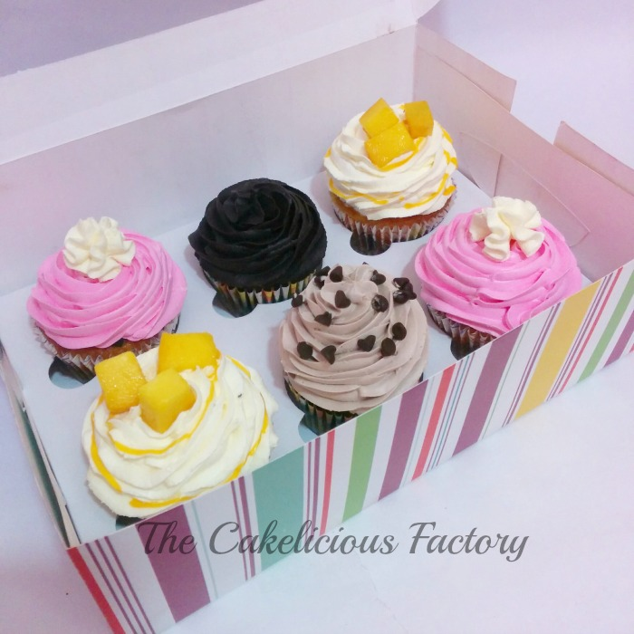 Assorted Box of Six Cupcakes