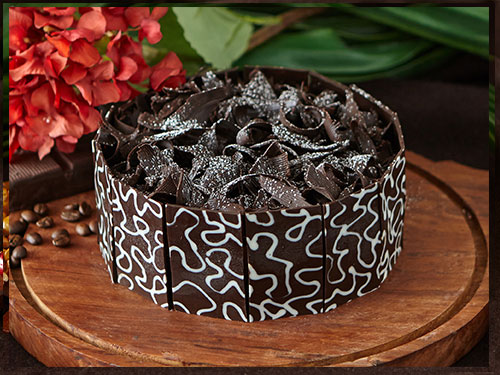 Chocolate Kahlua Mousse Cake