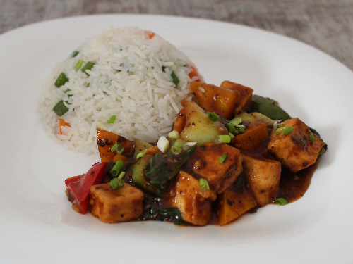 Bok Choy & Tofu with Fried Rice