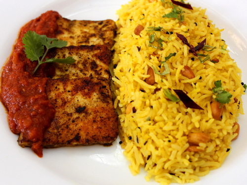 Chermoula Cottage Cheese with Lemon Rice