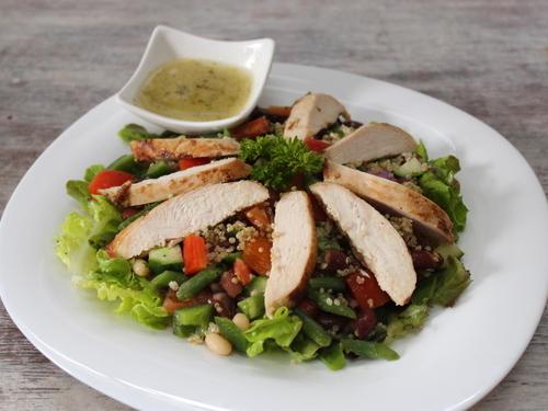 Three Beans & Quinoa Salad with Chicken