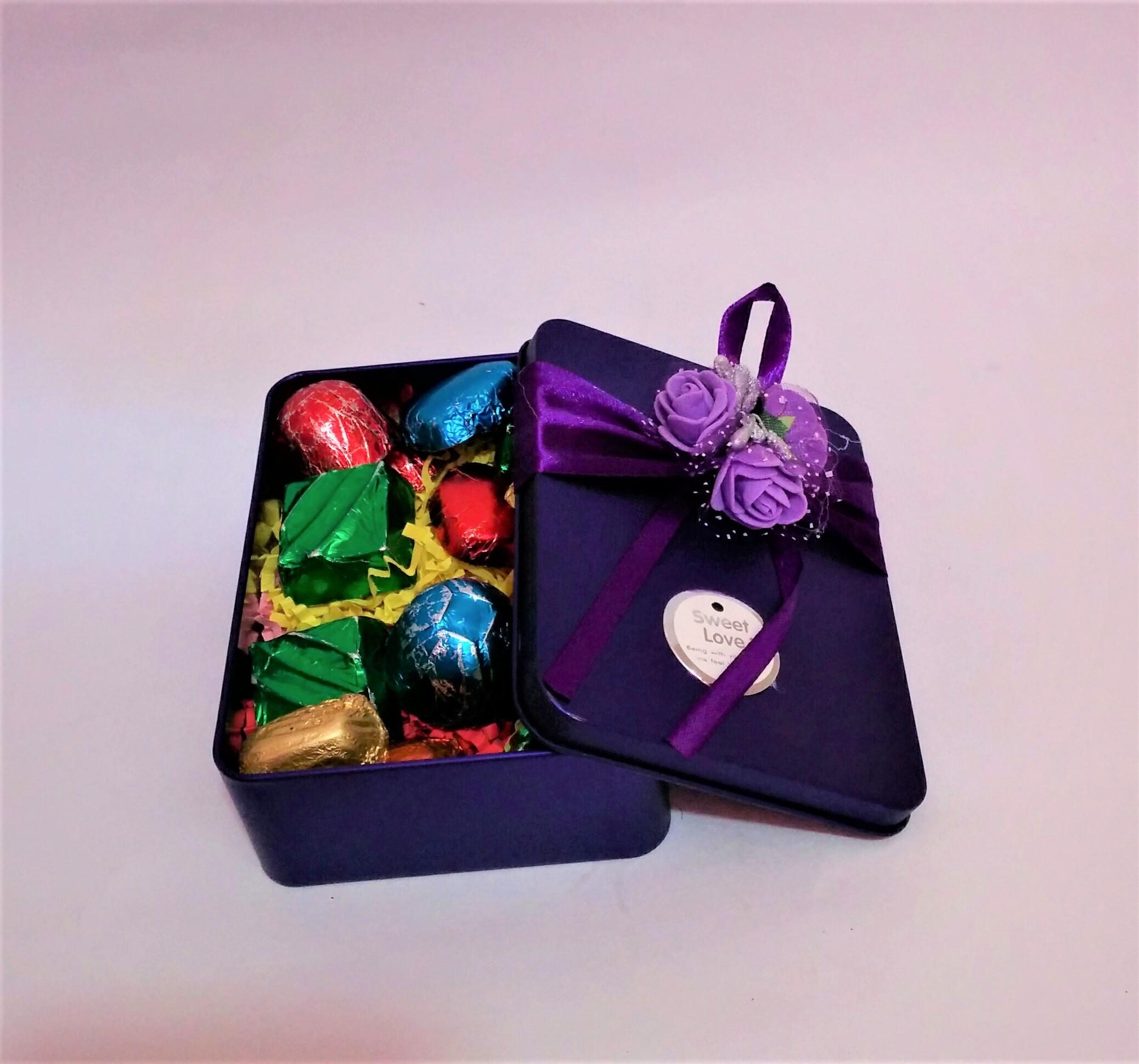 Gift Box of 12 Assorted Chocolates - Rectangular