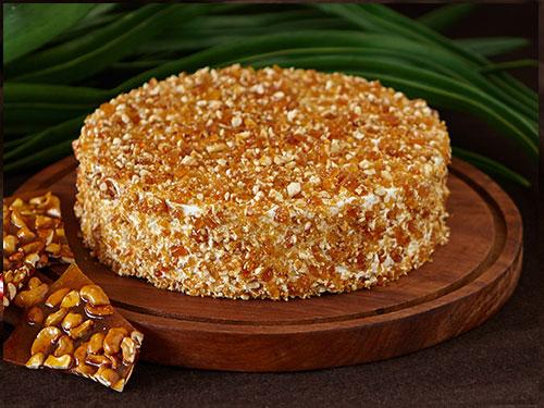 Cashew Nougat Cake