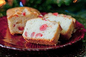 Christmas Cherry Rum Pound Cake