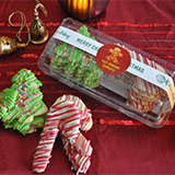 Iced Sugar Cookies - Christmas Trees and Candy Canes