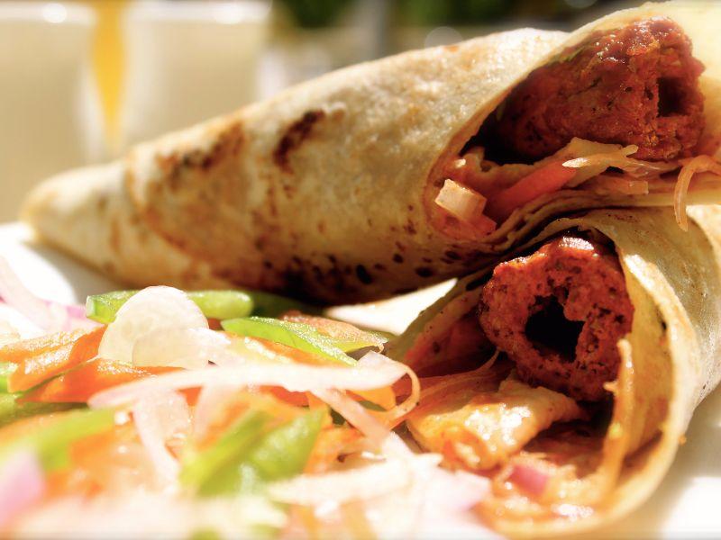 Mutton Seekh Kebab Frankie