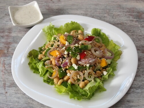 Veg Bulghur & Chickpea Salad