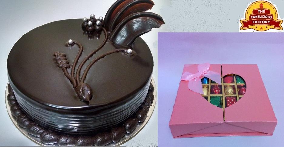 1KG Choco Truffle Cake & Chocolate Gift Pack; Code AB06