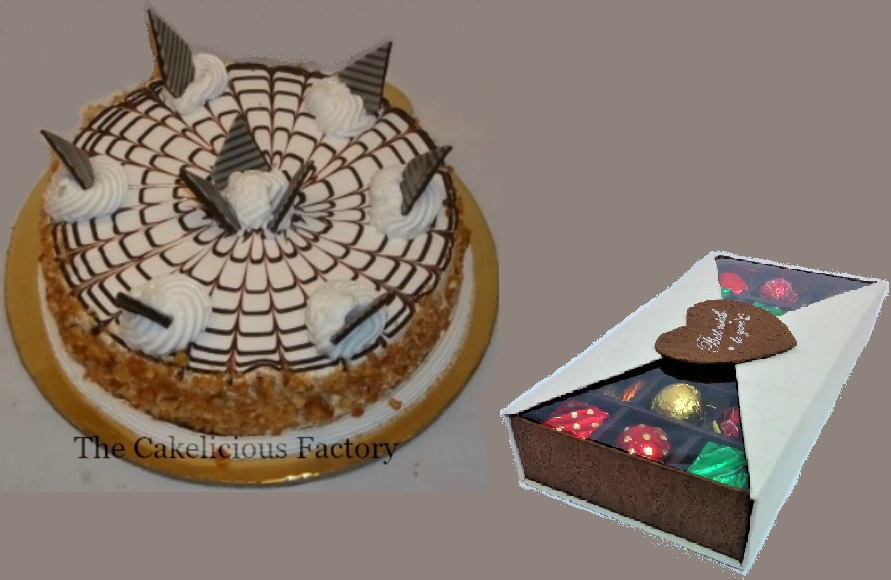 1Kg Butterscotch Cake & Chocolate Gift Box; Code AB07