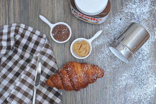 Nutella and Peanut Butter Croissant