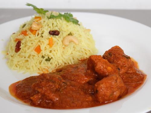 Chicken Lababdar with Pilaf Rice