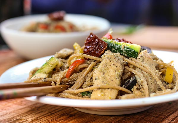 Chicken Carbonara (Whole Wheat Spaghetti)