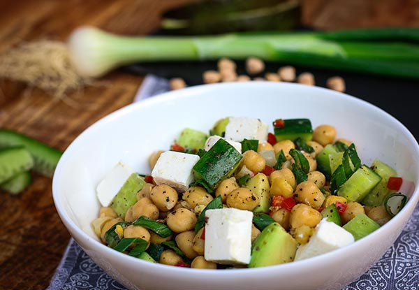 Avocado & Chickpea Delight Salad