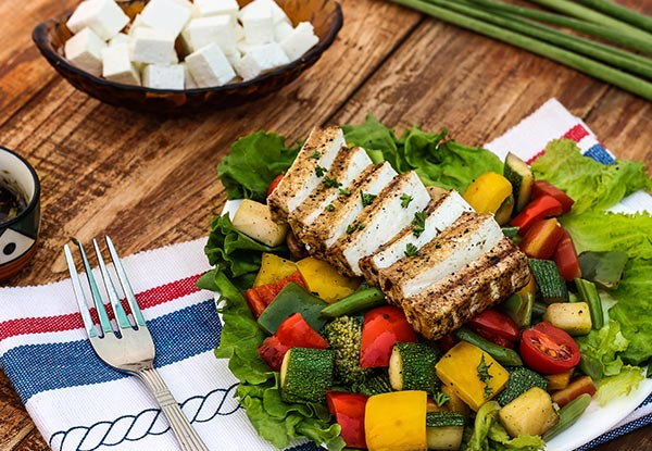 Grilled Tofu Salad
