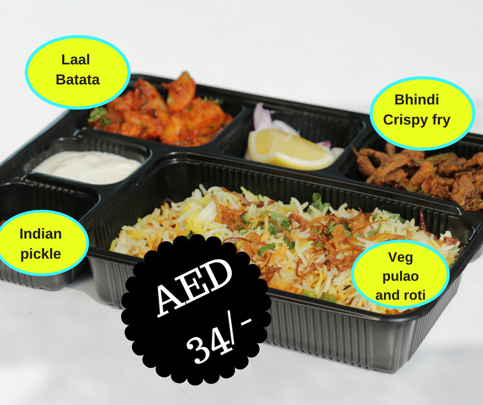 Veg Pulao Lunch Box