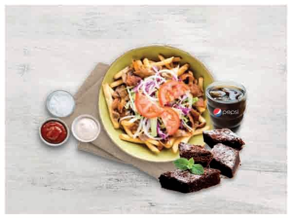 Kapsalon + Brownie Bites + Soft Drink