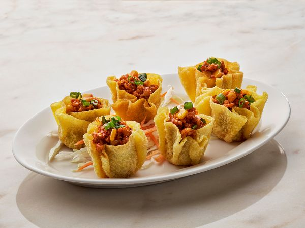 Wonton Baskets with Vegetables