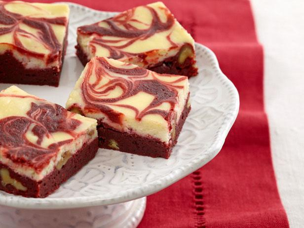 Red Velvet Cheesecake Brownie Blocks