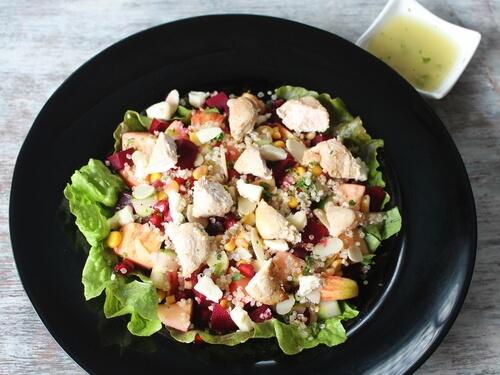 Chicken Apple, Pickled Beetroot & Quinoa Salad