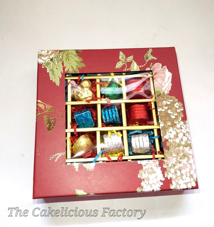 Gift Box of 25 Assorted Chocolates - Red Print