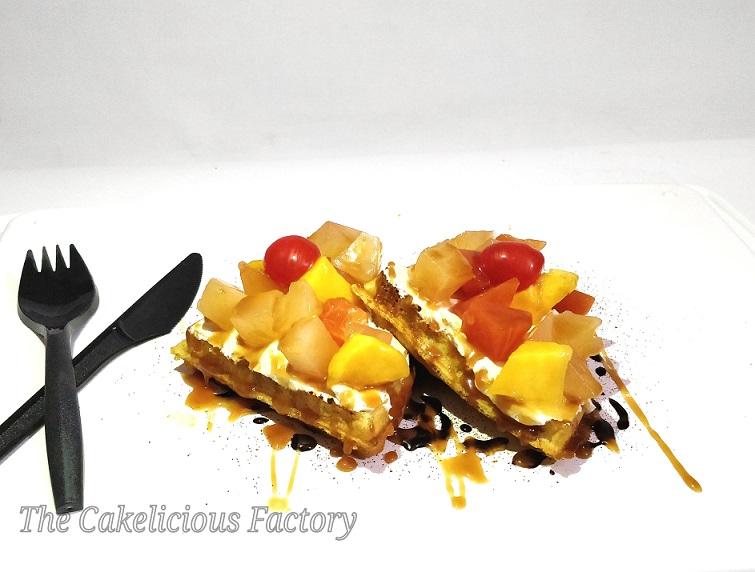 Coffee Fresh Fruits Waffle