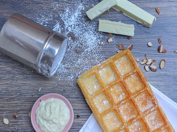 White Choc Waffle