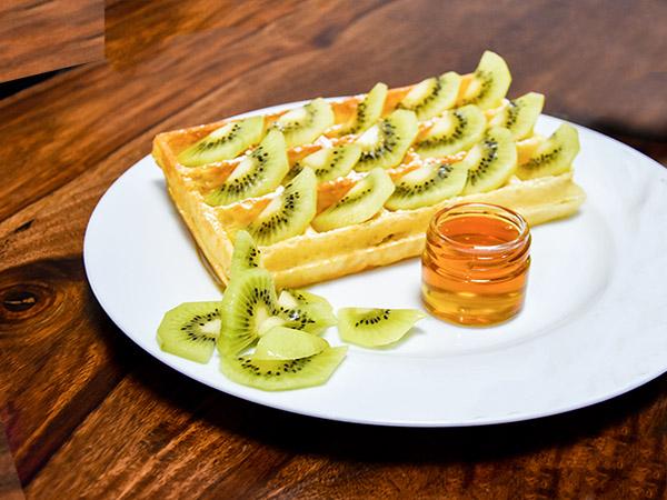Honey Kiwi Waffle
