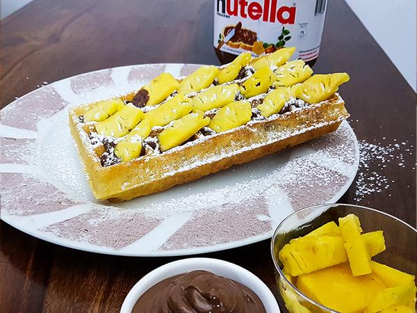 Nutella Pineapple Waffle