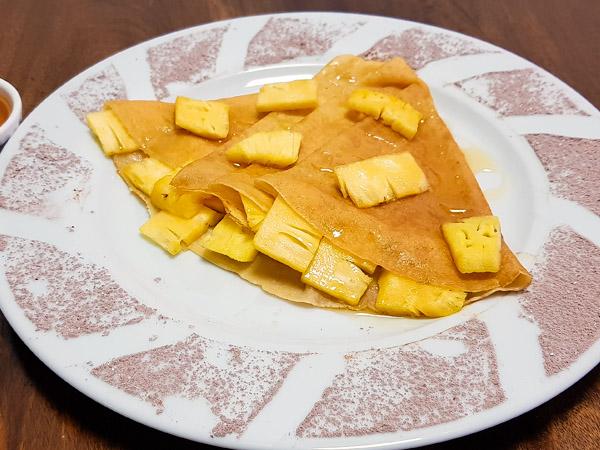 Honey Pineapple Crepe