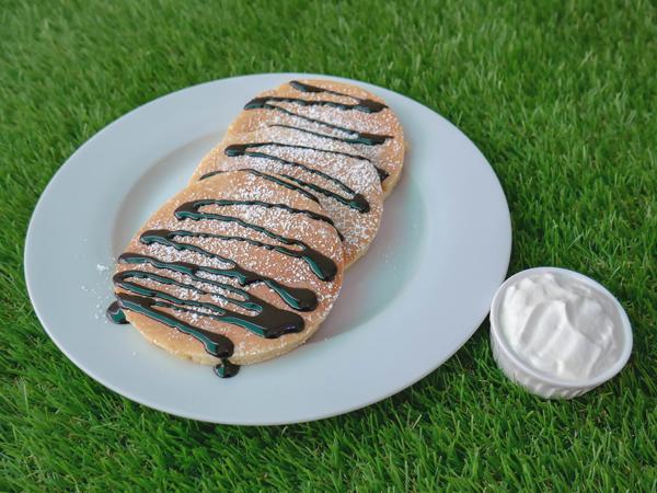 Dark Choc Mascarpone Pancake