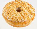 White Caramel Almond Doughnut