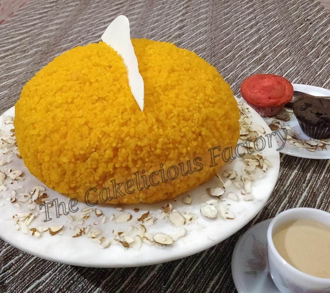 Motichoor Laddoo Cake