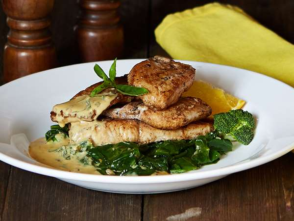 Grilled Sole with Orange Basil Sauce