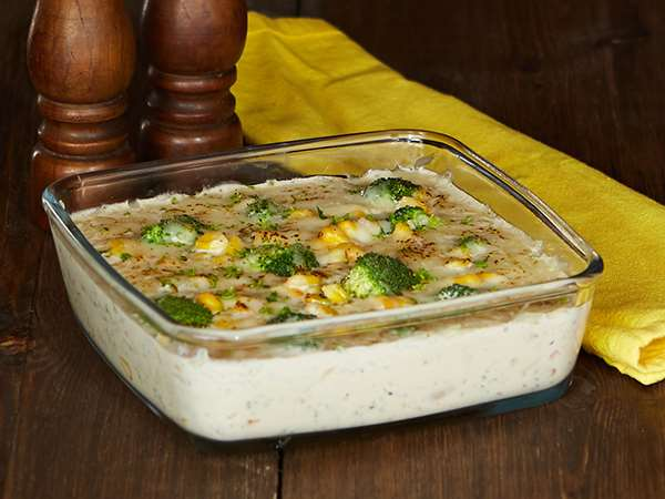 Vegetarian  Gratin (rate includes security deposit of Rs 600)