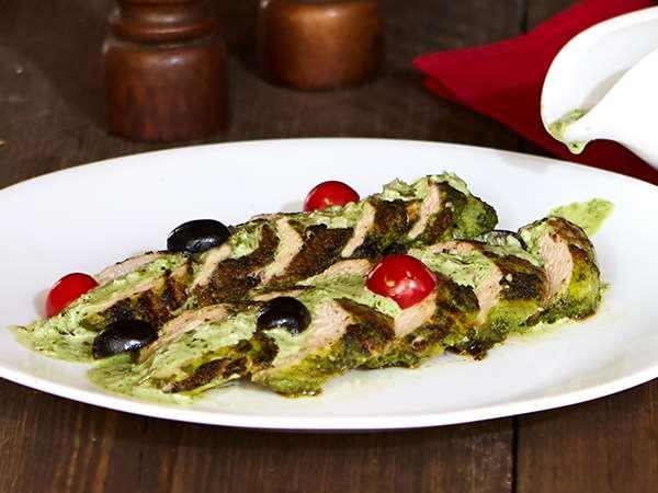 Basil Pesto Grilled Chicken