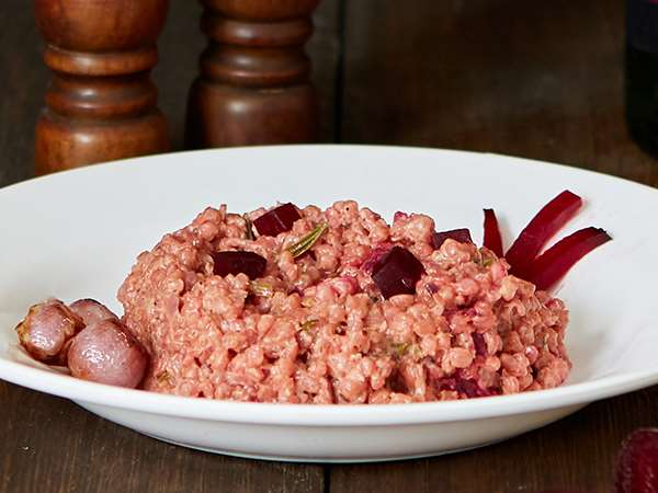 Red Wine Barley Risotto