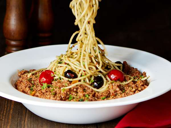 Spaghetti Soya Bolognese