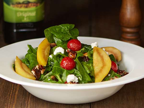 Wine Poached Pear and Feta Salad