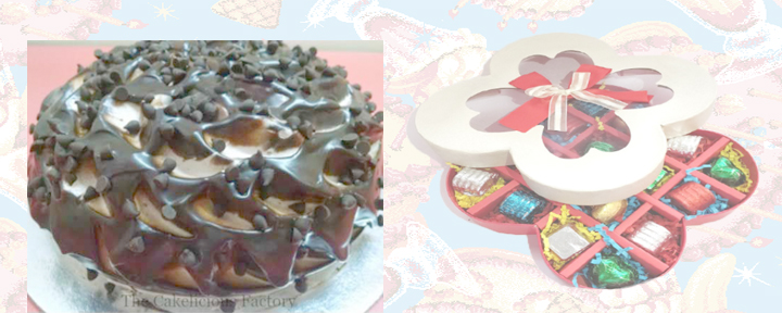 Choco Chip Mud Cake & 16 Chocolate Box (AB02)