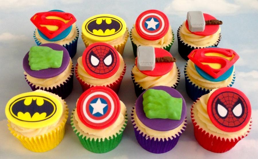 Avengers Theme Cupcakes