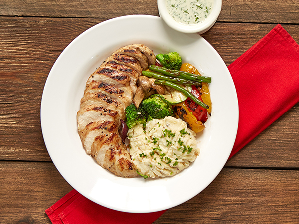 Basil Pesto Grilled Chicken Combo